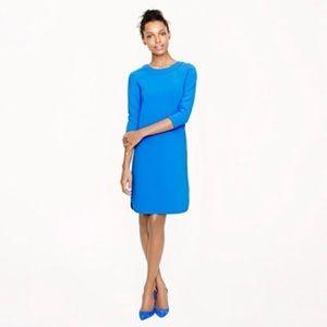 J Crew Collection Crepe Shift Dress Blue  NWOT 6